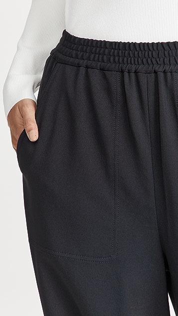 Tibi Chalky 垂褶慢跑长裤