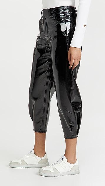 Tibi 仿漆皮立体长裤