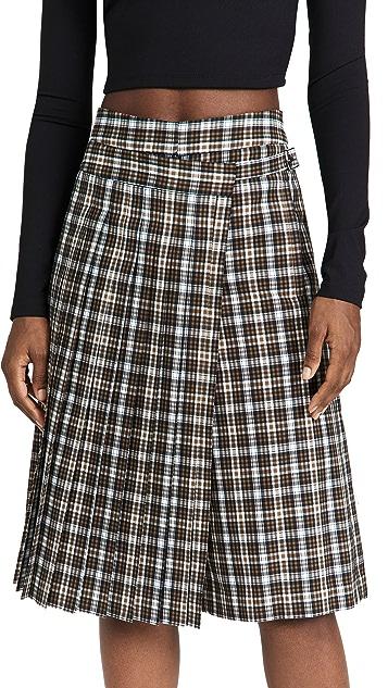 Tibi Costelle Menswear Pleated Wrap Culottes