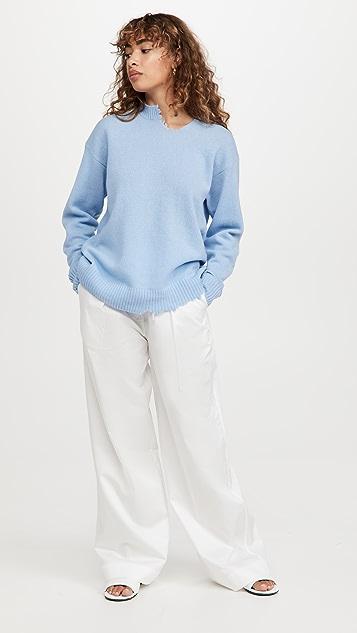 Tibi Soft Lambswool Cutout Pullover