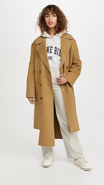 Tibi Luxe Double Faced Wool Angora Carwash Coat