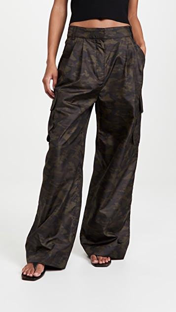 Tibi Tech Camouflage Cargo Pants
