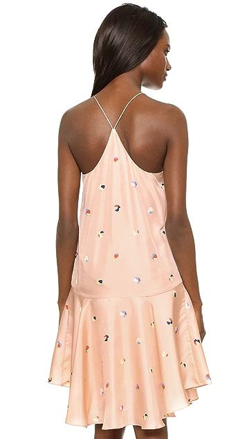 Tibi Beach Ball Print Silk Dress