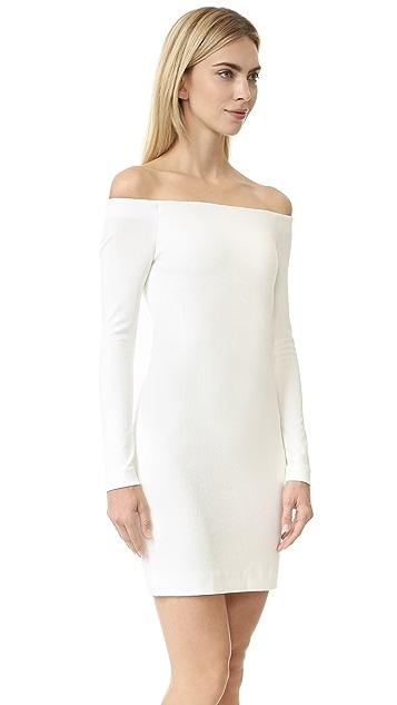 Tibi Off Shoulder Crepe Dress