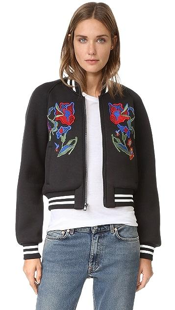 Tibi Marisol Embroidered Bomber Jacket