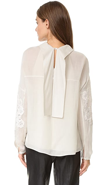 Tibi Anai Embroidered Blouse