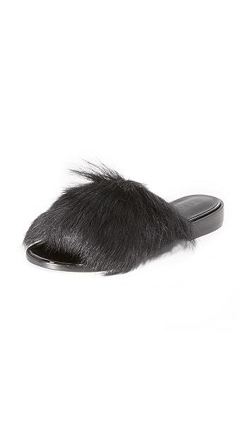 Tibi Kellen Fur Flats