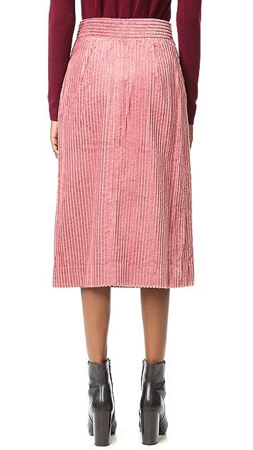 Tibi Corduroy Wrap Skirt