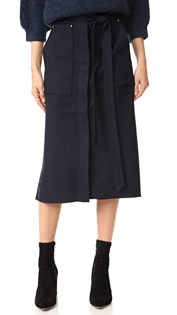 Long Twill Skirt