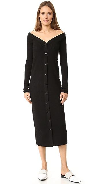 Tibi Merino Rib Reversible Cardigan Dress  3e5a5f360