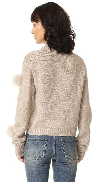 Tibi Alpaca Pom Pom Sweater Shopbop