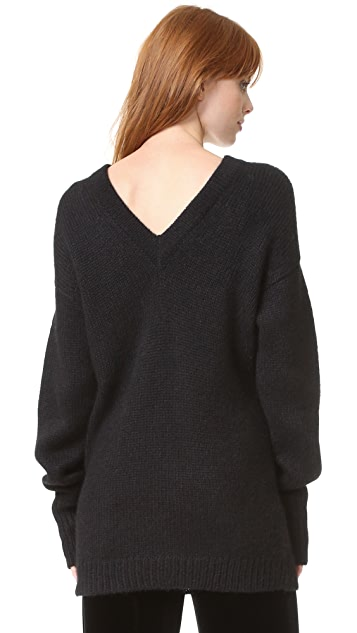 Tibi V Back Sweater