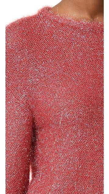 Tibi Легкий пуловер Glean с округлым вырезом