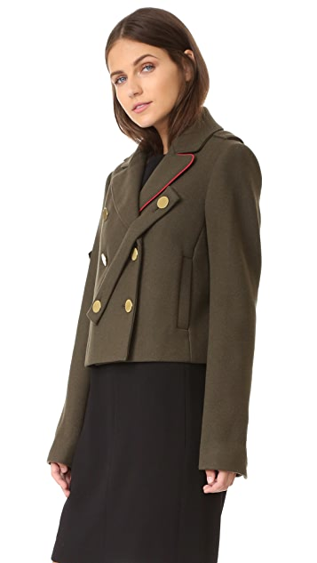 Tibi Cropped Pea Coat