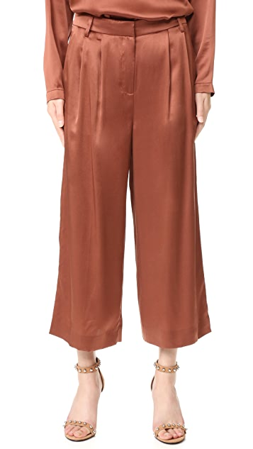 Tibi Cropped Pleat Pants