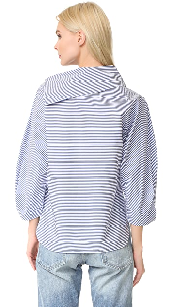 Tibi Sculpted Sleeve Top