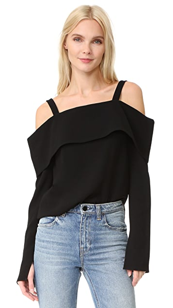Tibi V Back Decolette Top