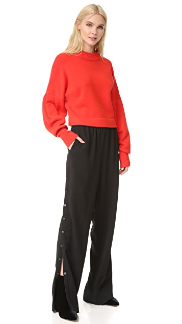 Tibi Pull On Side Snap Pants