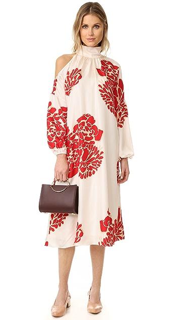 Tibi Asymmetrical Cutout Orla Bloom Dress