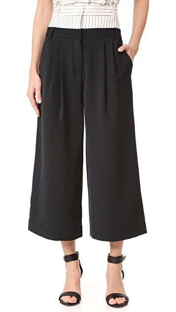Tibi Double Waist Cropped Pants