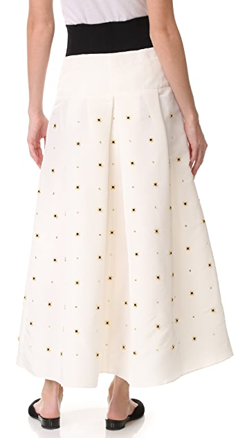 Tibi Charlotte Beaded Full Skirt