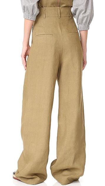 Tibi Hessian Pants