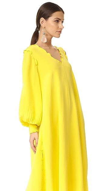 Tibi Edwardian Open Shoulder Dress