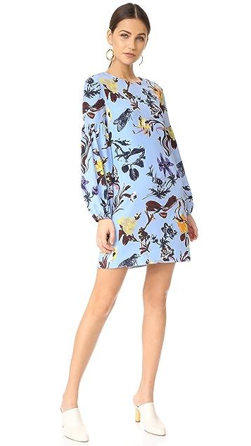 Tibi Gothic Floral Dress