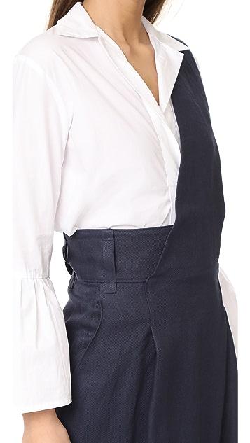 Tibi Hessian Asymmetrical Jumpsuit