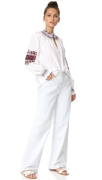 Tibi Cora Embroidered Tunic