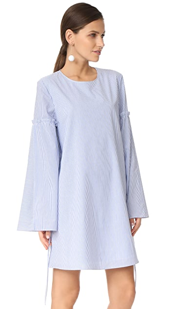Tibi Elliot Stripe Trapeze Dress