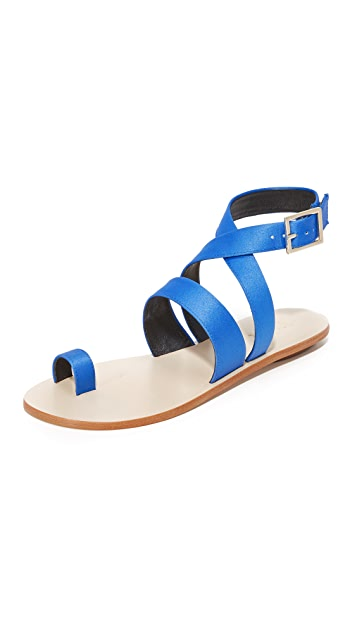Tibi Hallie Satin Sandals