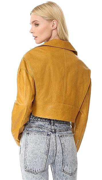 Tibi Cropped Moto Jacket