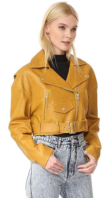 Tibi Укороченная байкерская куртка