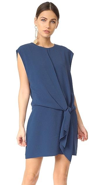 Tibi Savanna Tie Front Dress