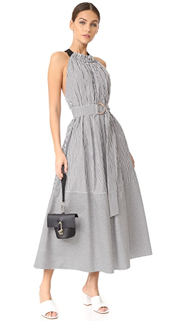 Tibi Tie Back Full Sleeveless Dress