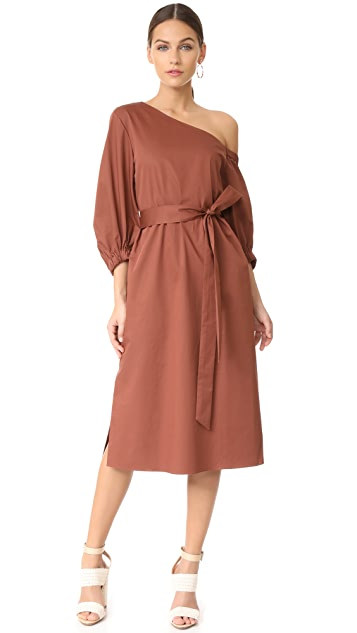 Tibi Midi One Shoulder Dress