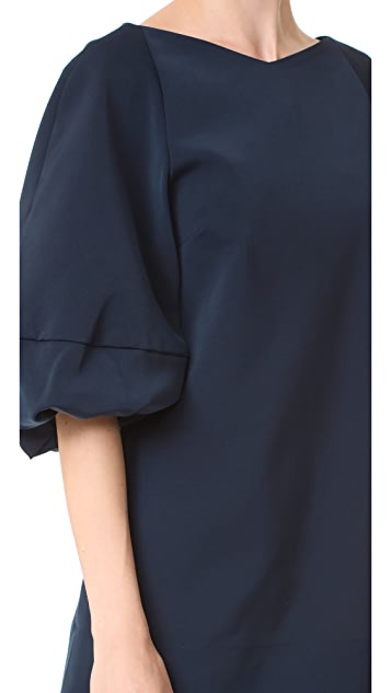 Tibi Balloon Sleeve Mini Dress