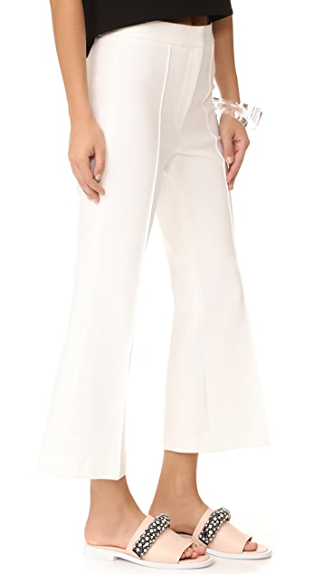 Tibi Jane Cropped Boot Cut Ponte Pants