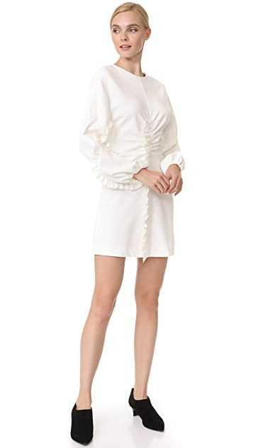 Tibi Ruffle Detail Mini Dress