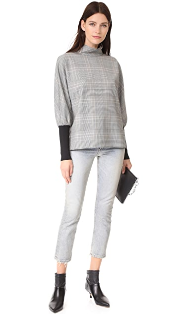 Tibi Easy Dolman Ribbed Top
