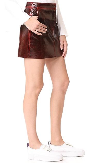 Tibi Patent Miniskirt