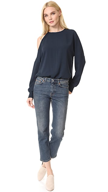 Tibi Asymmetrical Cut Out Blouse