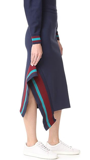 Tibi Jacquard Midi Skirt