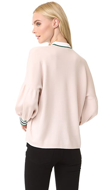 Tibi Oversized Puff Sleeve Pullover