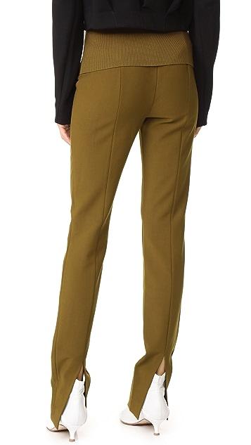 Tibi Camille High Waist Skinny Pants