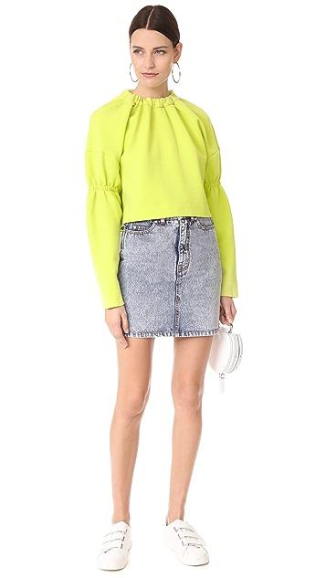 Tibi Oversized Bolero Sweatshirt