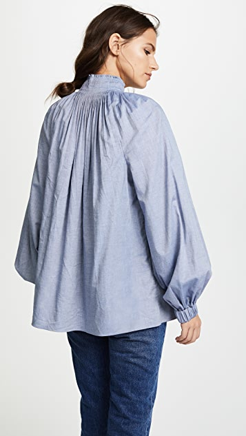 Tibi Edwardian Top