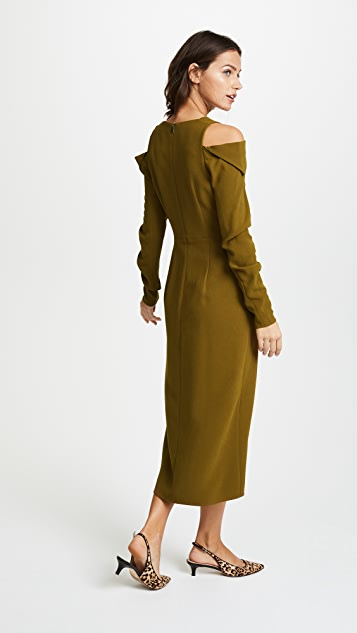 Tibi Open Shoulder Dress