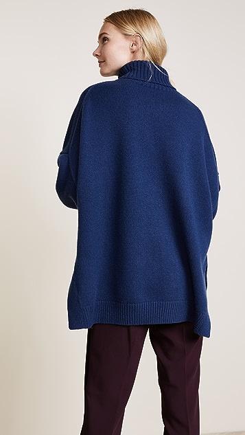 Tibi Cashmere Turtleneck Oversized Sweater